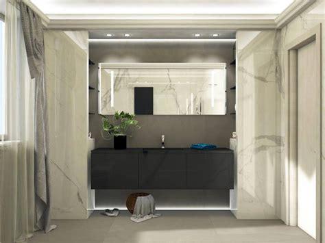 progetti bagno moderno bagno moderno ed elegante grandi lastre ed illuminazione
