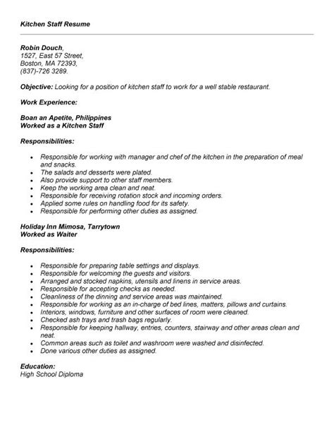 Experience Letter For Kitchen Helper Delivery Helper Resume