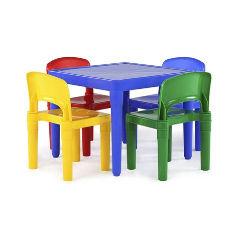 Plastic Table And Chairs Set by Tot Tutors Plastic Table 4 Chairs Set For