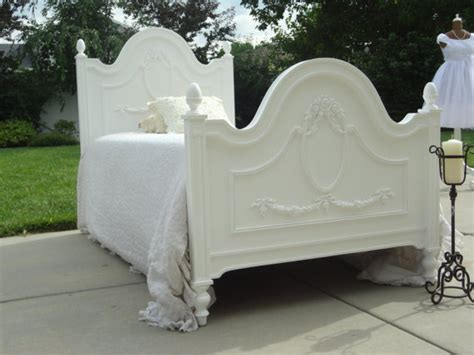 shabby chic twin bedding shabby chic bed white twin size with by frenchgardentreasure