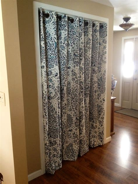 curtains on closets no more pinch y sliding closet doors hello pretty