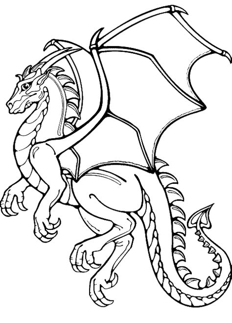 LAMINAS PARA COLOREAR - COLORING PAGES: Dragones para colorear