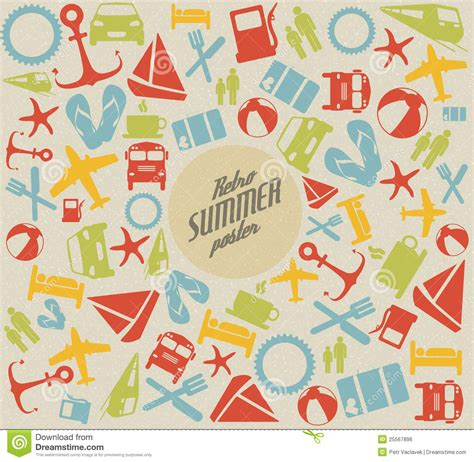 vector pattern summer vector summer pattern background royalty free stock