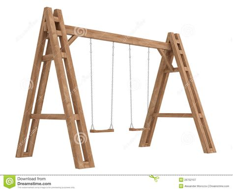 x swing wooden a frame with swings stock illustration