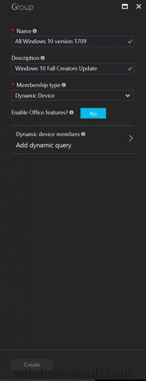 How can I create a dynamic group containing all Windows 10