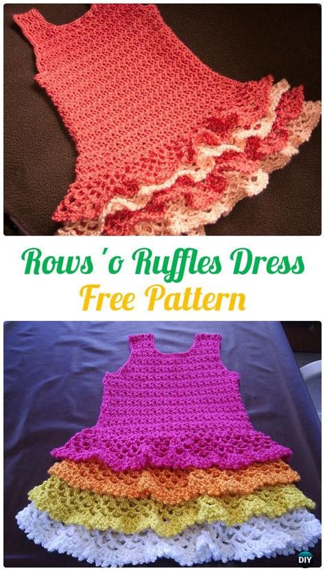 crochet girls dress  patterns instructions crochet