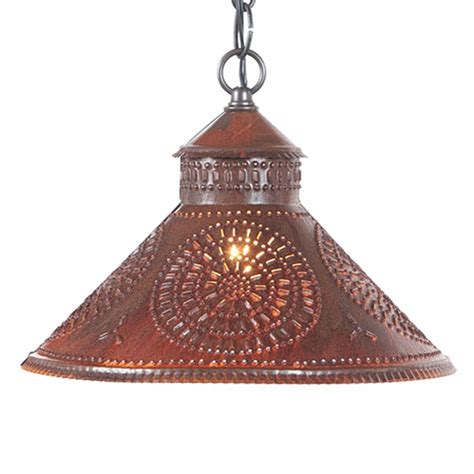 Tin Pendant Light Stockbridge Shade Pendant Light Rustic Tin