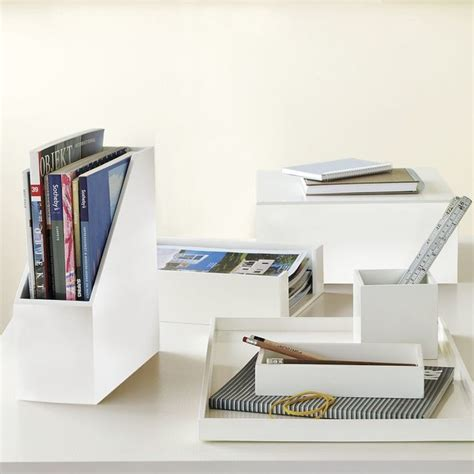 Modern Desk Supplies Lacquer Office Modern Desk Accessories By West Elm