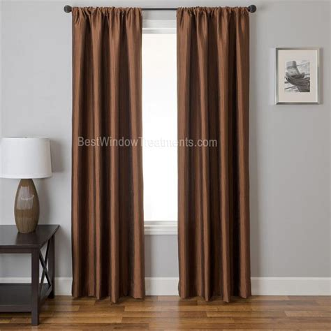 bronze curtain straino curtain drapery panels in solid copper color