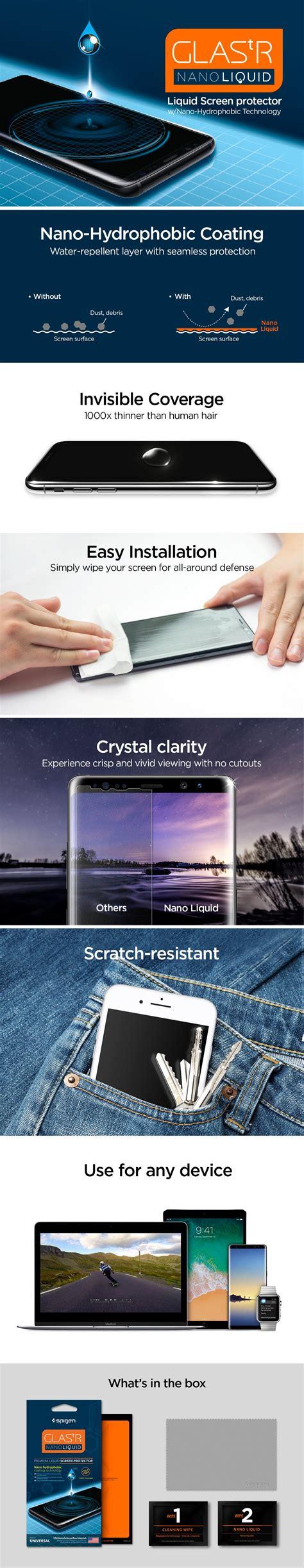 Original Spigen Screen Protector Glas Tr Nano Liquid Universal Sp screen protector glas tr nano liquid spigen inc