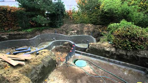 how to make a koi pond in your backyard making a koi pond koi pond construction youtube