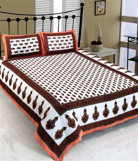 bed sheet quality mesmerization excellent quality jaipuri printed bed sheet with 2 pillow cover buy