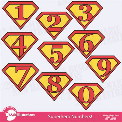 printable superhero numbers superhero numbers clipart mygrafico super hero party