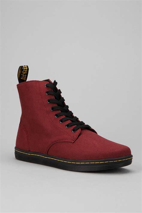 Dr Martens Maroon dr martens alfie 8 eye sneaker boot in brown for