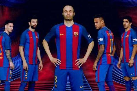 Kit Jugadores De Ftbol Bara Vs Madrid 10p | fc barcelona unveil new nike home kit for 2016 2017 season