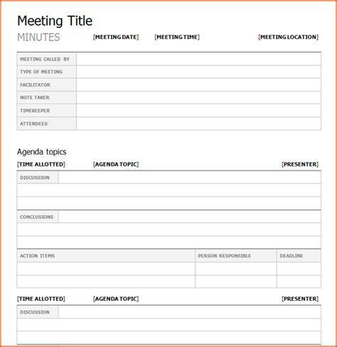 meeting note template 8 meeting note template bookletemplate org