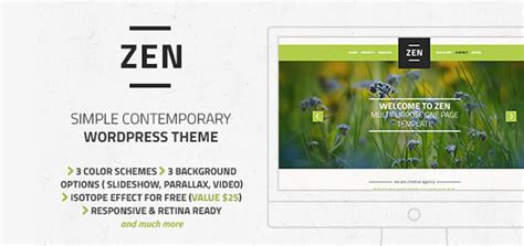 download theme for zen mobile zen multipurpose creative one page wordpress theme