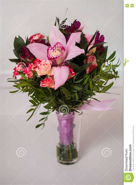 Wedding Bouquet Violet Roses by Beautiful Bouquet Violet Purple Flowers Roses Stock