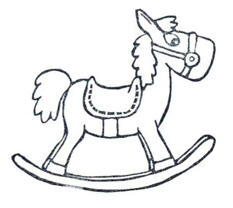 coloring pages of rocking horses how to draw rocking