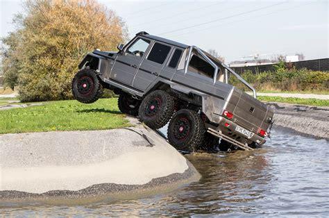 mercedes 6 wheel pickup 2014 mercedes benz g63 amg 6x6 first drive motor trend