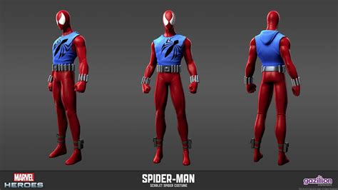 All Costum All all spidey suits scarlet spider and his costume