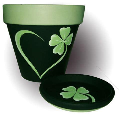 design of flower pot st patrick s painted terra cotta flower pot st