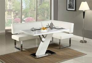 Modern White Dining Room Set 21 Space Saving Corner Breakfast Nook Furniture Sets Booths