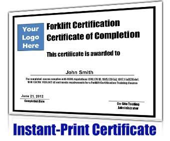 Free Forklift Certification Card Template forklift certification kit get your employees forklift