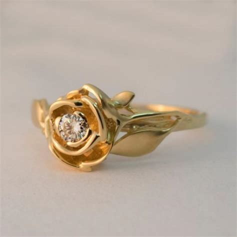 engagement ring no 3 14k gold and