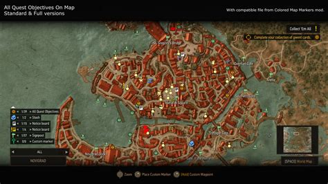 map all all quest objectives on map at the witcher 3 nexus mods