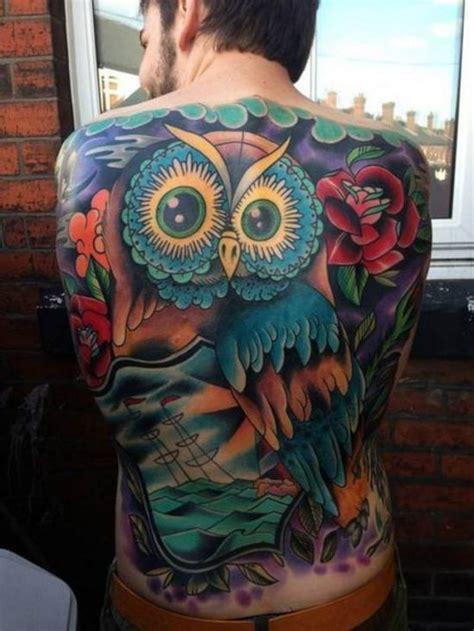 owl tattoo back piece amazing back piece tattoo owl amazing tattoos