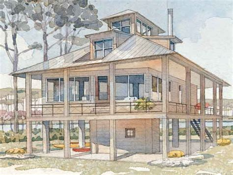 raised house plans tidewater cottage house plans raised low country house