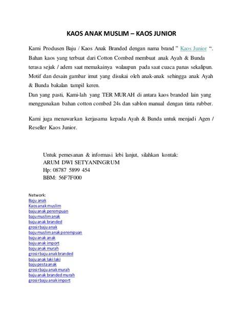 Produsen Baju Muslim Anak produsen grosir jual baju anak branded murah kaos anak muslim