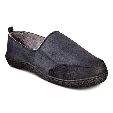 mens isotoner slippers impressions by isotoner s slippers black ebay