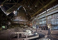 abandoned carrie furnaces  rankin pa remnants