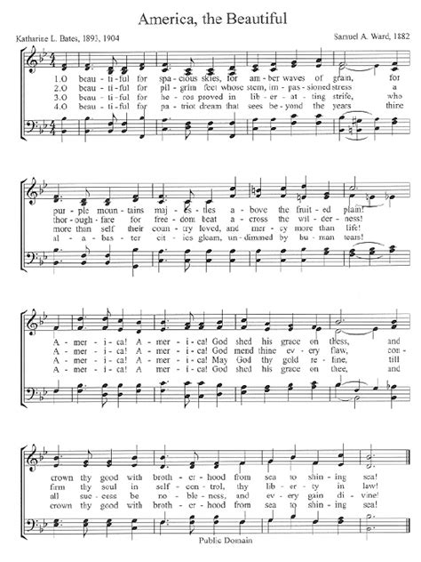 printable lyrics america the beautiful the center for church music songs and hymns
