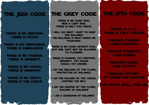 is it against my jedi training to accept the grey code i