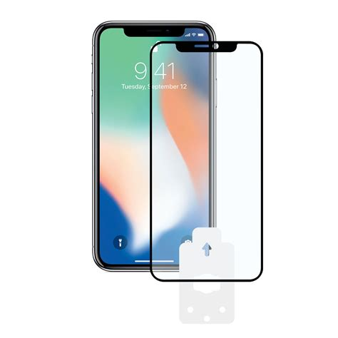 ksix machine 2 5d protector tempered glass 9h with edge for iphone xr black 1 unit