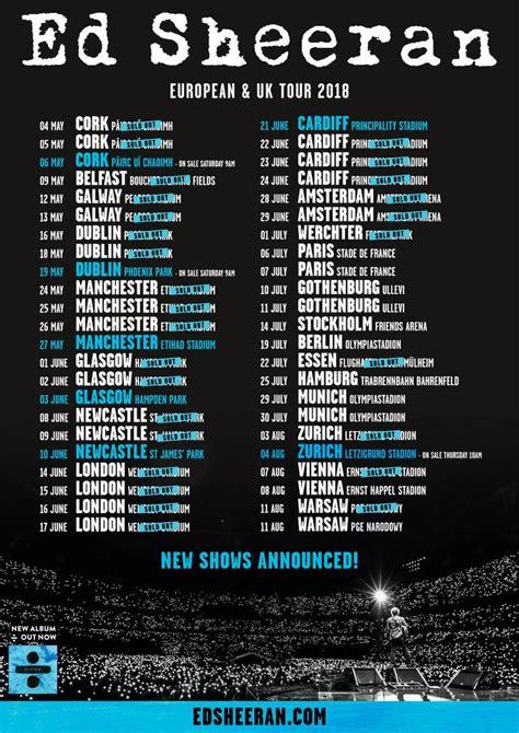 ed sheeran us tour 2018 ed sheeran updates edsheeran eu twitter