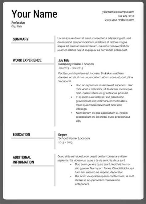 12 Best Ielts Images On Pinterest Resume Layout Best Cv Template And Best Resume Template Condensed Resume Template