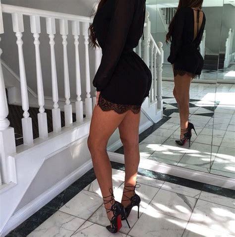 High Heels Bulu Ap 021 by Instantfap Black Dress And High Heels