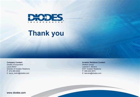 diodes inc contact diodes inc form 8 k ex 99 1 march 23 2011