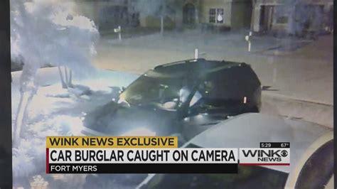 fort myers car burglar on wink news