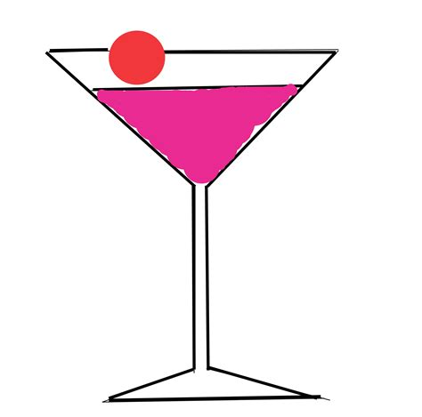 cocktail cartoon cartoon cocktail glass clipart best