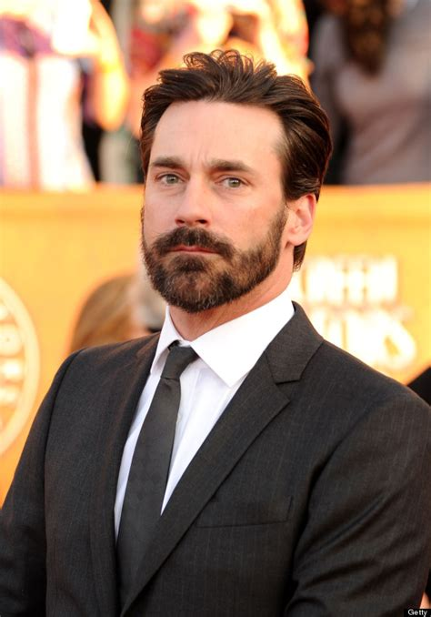 jon hamm sports bushy beard is still the handsomest man