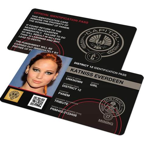hunger id card template custom id card hunger district identification
