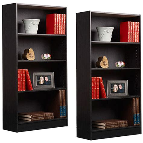 orion 4 shelf bookcase orion 4 shelf bookcases set of 2 walmart com