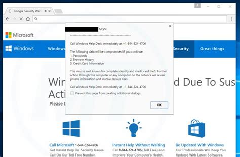remove quot call windows help desk immediately quot virus support