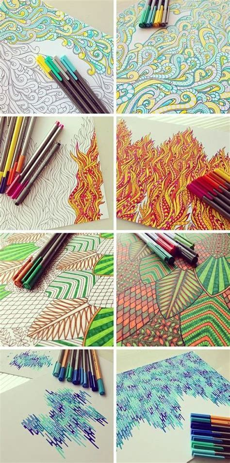 awesome pen doodles illustrating the elements beautiful line doodle