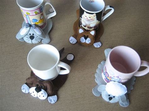 fabric crafts for dogs cat bunny and sheep coasters felt coasters drink